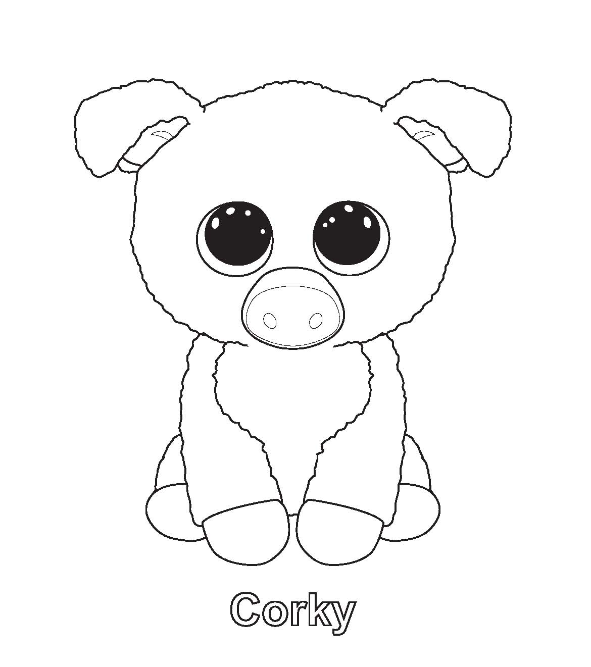 Beanie Boo Coloring Pages Stunning Ty Art Gallery