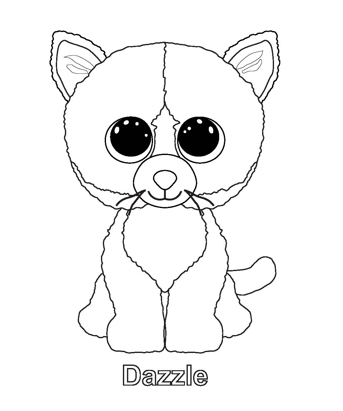 ty art gallery - Beanie Boo Coloring Pages