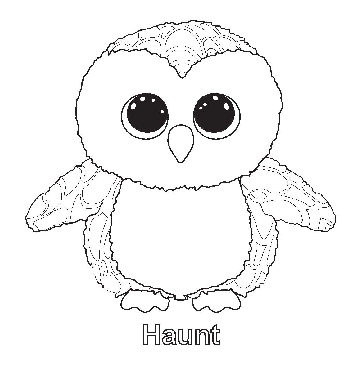 free beanie boos coloring pages