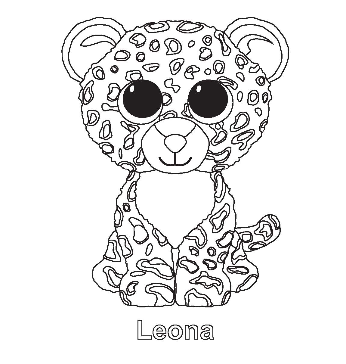 Coloring pages italy - Beanie Boo Leona Colouring Pages