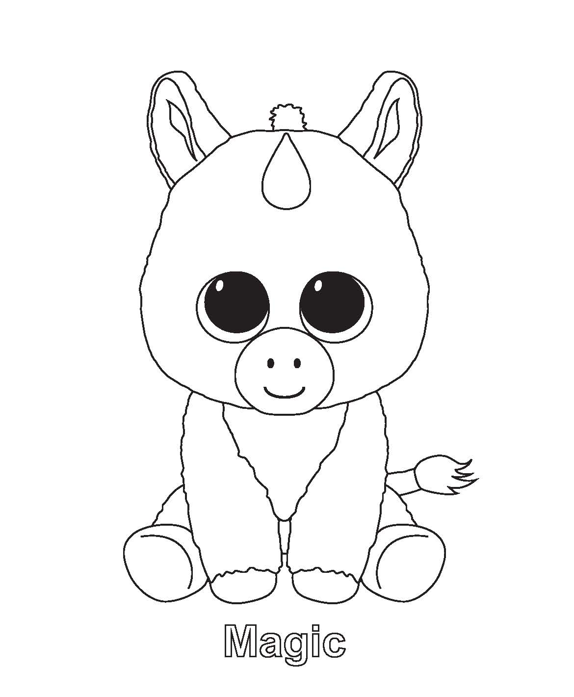 ty art gallery - Coloring Pages Unicorn